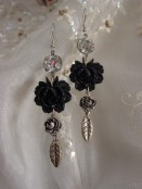 rhinestone rose earrings