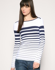 Gap Mixed Stripe Boat Neck Top